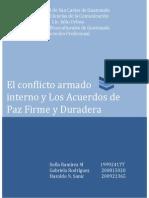 Etnoculturales - Conflicto Armado Acuerdos de Paz