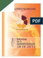 Informe de la Administración 2010-2012