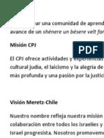 Mision Vision Centro Progresista Judío -MEretz