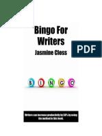 Bingo for Writers