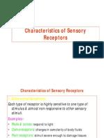 6. Characteristics- Sensory Receptorsac