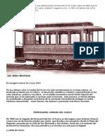 Se desconoce cuándo iniciaron sus operaciones los tranvías en el Cuzco