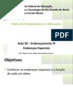 Aula30 - Enderecos IP-Enderecos Especiais