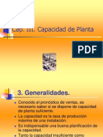 CAPÍTULO 3 CAPACIDAD DE PLANTA