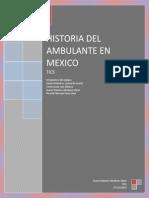 Historia Del Ambulante en Mexico