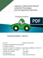 1. Programa Analitco - Ind 223