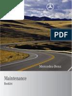 MB C Klasse Maintenance Booklet