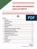 Descrição das saídas profissionais ligadas ao Direito