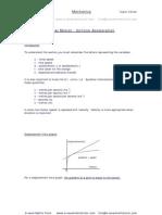 Uniform Acceleration,linear motion,mechanics notes from A-level Maths Tutor