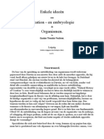 Enkele ideeën vaan Creation - en embryologie de Organismen.-dutch-Gustav theodor Fechner