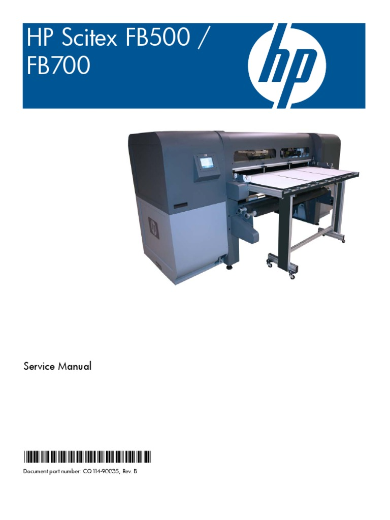 hp scitex fb500 fb700 service manual printer computing belt rh scribd com hp scitex fb500 service manual pdf Flatbed Printer