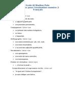 Révisions pour l'évaluation numéro 2     13.14