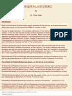 Is Quran the Word of God - Zakir Naik - net - ( Religion - Islam )