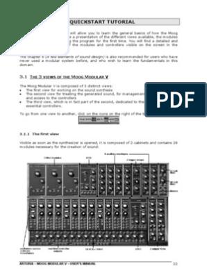 Arturia - Moog Modular v - Manuale | Synthesizer
