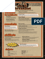Stone Hut Bar & Grill - Breakfast Menu