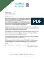 Letter to Gov. Herbert Re