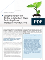 Using Monte Carlo Method Value Early Stage Ip Assets