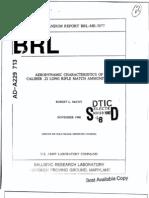 Aerodynamic Characteristics of .22LR Match Ammunition