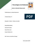 Monografias Unidad 4 Sistemas de Calidad IGE