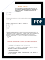matematicas metodo de sustitucion