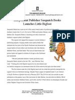 Sasquatch Books Announces Little Bigfoot Imprint
