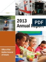 The 2013 report from the Ontario Auditor General