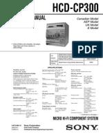 Sony Hcd-cp300 Sch