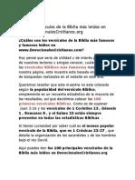 Los 100 Versículos de la Biblia más leídos en www.DevocionalesCrsitianos.org