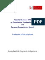 Recomendaciones 2005 En Resucitación Cardiopulmonar Del European Resuscitation Council Traducción oficial autorizada Consejo Español