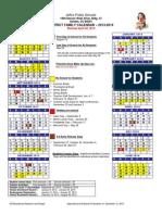 Jeffco Schools 2013 2014 Family Calendar