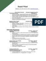 wind skills based resume