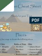 ancient egypt cheat sheet