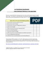 ADAM Questionnaire