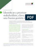 I04 Identificar y priorizar stakeholders clave para una buena gestión de crisis
