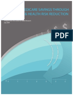 Potential Medicare Savings Through Prevention & Health Risk Reduction
