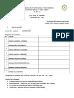 Plan Anual de Academia Mate 2011 - 2012 Tv