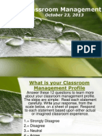 Classroom Management October 22 2013