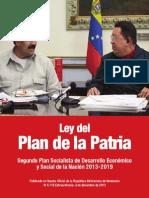Ley del Plan de La Patria 2013 2019