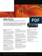 HDR-CX110 2page Spec Sheet