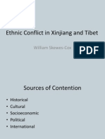 Ethnic Conflict in Xinjiang and Tibet