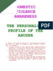 Domestic Violence Awareness 2009
