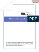 Officeserv Soho Operator Manual