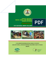 MICRO, SMALL AND MEDIUM ENTERPRISES SURVEY IN NIGERIA BY SMEDAN