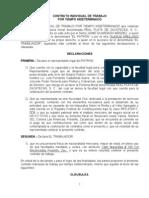 Contrato Individual de Trabajo (Machote)