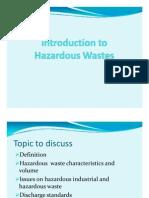 1.Introduction to Hazardous Wastes