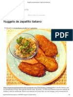 Nuggets de Zapallito Italiano _ Vegetariana Hambrienta