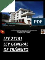 Ley 27181transporte Vial y Urbano