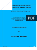 Technical Specification for 33 KV, Single Phase, Dead Tank Type