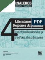 Jornaleros 04 - Literaturas de las  Regiones Argentinas. De fundaciones y  refundaciones