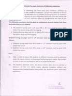 Scholarship Policy for Super Achievers and Defence Personnel
